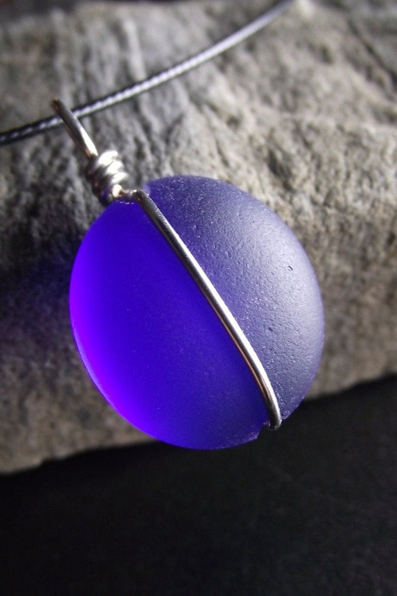 Reserved For Jeanne - Glass Marble Jewelry - Faux Sea Glass - MOON OVER MIAMI