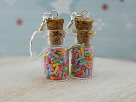 Sprinkles Bottle Earrings