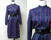SALE!!! . NANCY GREER . vintage 1970 secretary poly dress . size 10 . medium
