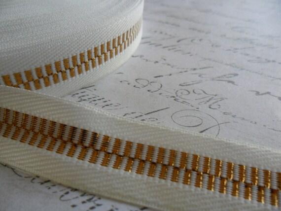 Retro Faux Zipper 3/4 inch wide ribbon