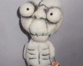 Mr BONES  needle felted art doll