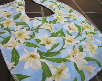 Easter Lily Baby and Toddler Bib
