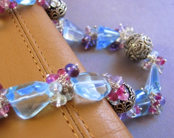 Blue Skies and Bouquets Necklace