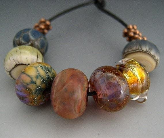 Naos Glass - Swingin Singles Set - Group Two - Handmade Lampwork Beads SRA