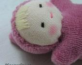 SALE - Waldorf Doll, GermanDolls Pink Pocket doll - Waldorf Toy
