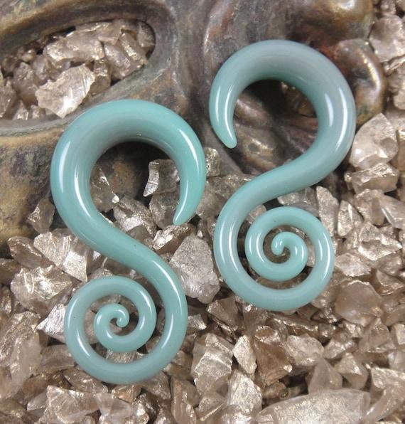 6G - Burnt Sage - Spiral Hoops (Minis)