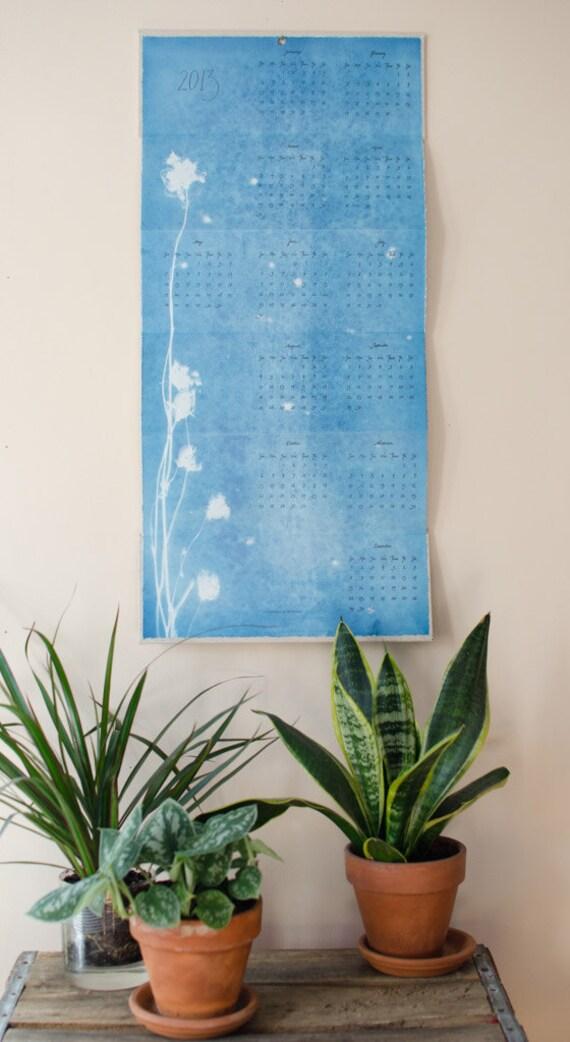 2013 Cyanotype & Letterpress Calendar No. 34/60
