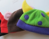 Kids Animal Hat Sewing Pattern - includes Bunny Cat Devil Monster Bear Hats & more 0 to 8 years
