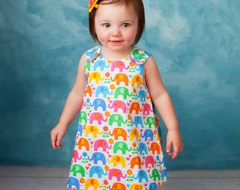 The Perfect A Line Dress pattern - Baby and Toddler - Classic Reversible Dress / Jumper PDF pattern