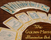 """RESERVED for TAYLOR - SALE! Tarot Deck """"The Golden Moth Illumination Deck"""" // Tarot Cards - Fortune Telling Cards"""