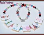 Boutique Custom Girls Alice in Wonderland Tile Necklace