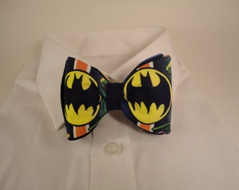 Batman Symbol Fabric Bow Tie