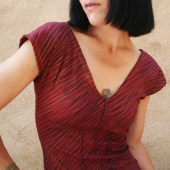 Majesty Magic - iheartfink Handmade Hand Printed Long V Neck Top