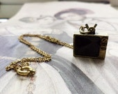 TV Junkie- Television Charm Necklace
