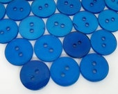 Lot of Vintage Bright Blue Translucent Buttons - Reduced