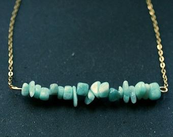 Mint Amazonite Gem Stack Necklace