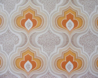 Groovy 60s lava wallpaper retro orange 1 meter