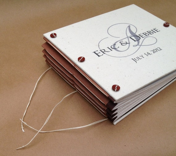 Monogram Wedding Photo Album - Anniversary Guest Book - Birthday Party Book - Traditional Book - Expandable - Custom Made for You