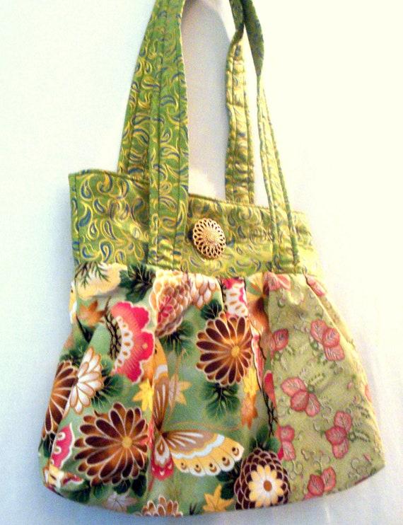 Asian Print Bag With Kona Bay Fabric