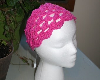 The Shell Stitch Headband - pink - finished product