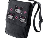 Ninja kitty Military Style black iPad Bag
