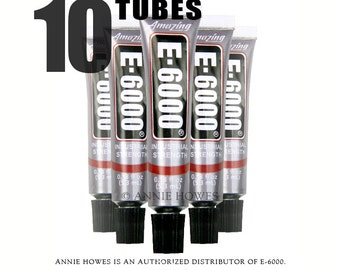 E-6000 Jewelry and Craft Adhesive .18 oz Tubes. 10 Pack. Annie Howes is an Authorized Distributor of E6000. Made in USA.