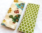 Reversible Car Seat Strap Covers - Turtles in Earth and Olive Dot - seatbelt covers for infant, toddler and adult seats