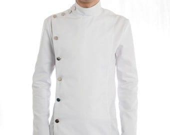 Medical Style Buttoned Jacket Supernal Clothing Menswear fetish goth gothic cyber clubwear sci-fi fantasy costume steampunk