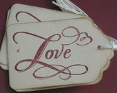 Love  Gift Tags Set of 8