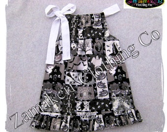 2t 2 24 month 3t 3 ONLY CLEARANCE SALE Girl Halloween Dress - Girl Halloween Pillowcase Dress - Girl Ghost Dress 24 month size 2T 2 3T 3