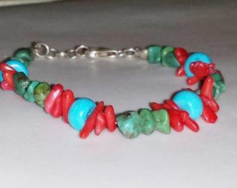Turquoise Coral Bracelet