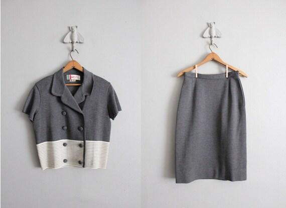 1950s wool suit / vintage 50s suit