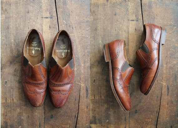 vintage leather oxfords / wingtip oxfords / Ralph Lauren shoes