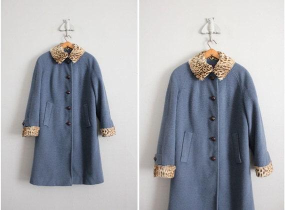 reserved - 1960s leopard coat / vintage 60s coat / real leopard fur