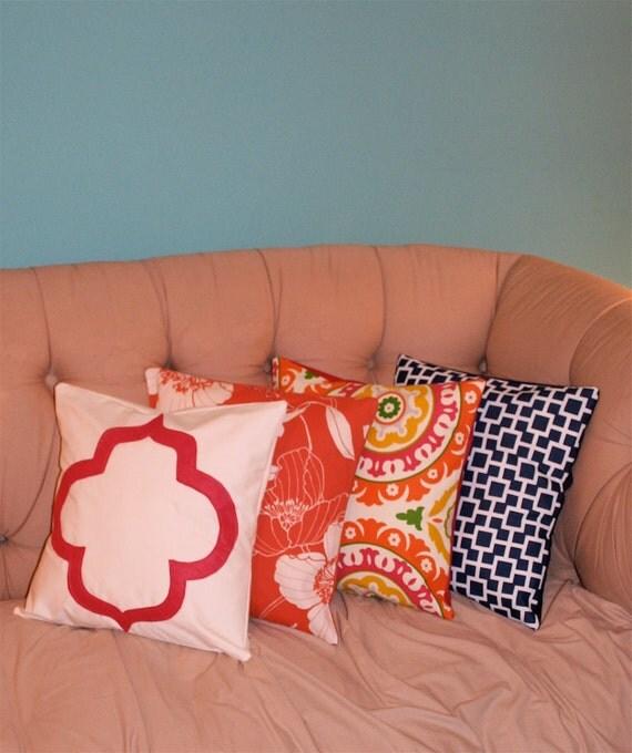 Solar Flair Orange Pillow Cover