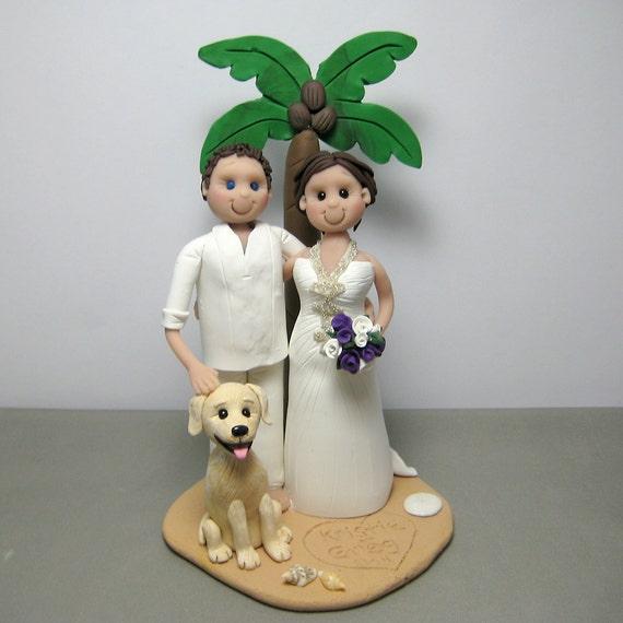 DEPOSIT for Custom made Polymer Clay Wedding Cake Topper