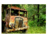Abandoned Truck Photograph, Photography, Rustic, Home Decor, Wall Art 8x12 Photograph