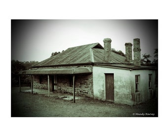 Vintage House In Black And White, Australia, 9x6, Historical