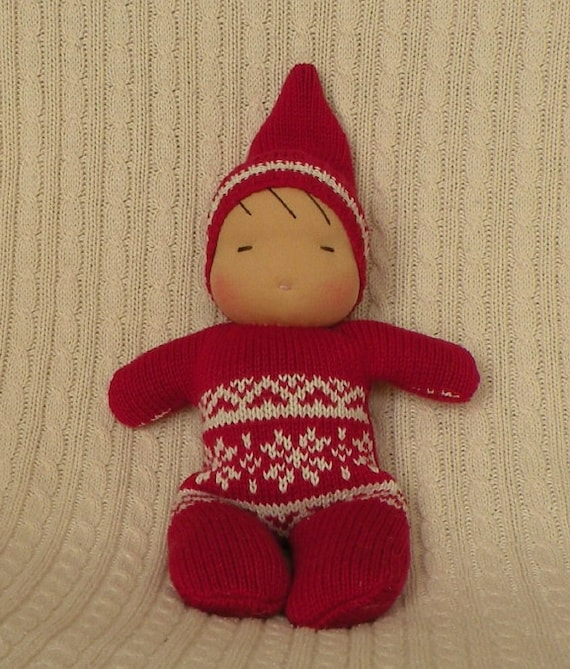 waldorf doll-toddler doll-sweater baby