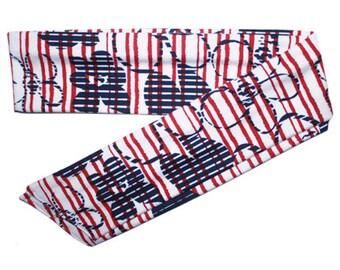 Patriotic Headband, Patriotic Head Band, July 4 Headband, July 4 Head Band, Red White Blue Headband, Red White Blue Head Band, Tie On Wrap