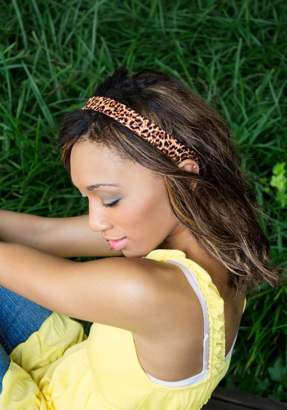Women's Skinny Cheetah Animal Print Hair Headbands