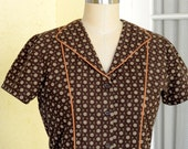 Custom Housedress from a Vintage 1950's Pattern