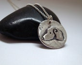 Dachshund Pendant - READY TO SHIP - Dachshund Jewelry - Dachshund Signature Pendant In Fine Silver