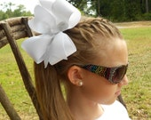 Large Hair Bows, Solid Basic, Style hairbow, Girls Ribbon, School Colors, Handcrafted, Wide monogram, monogrammed initial, Custom Boutique,