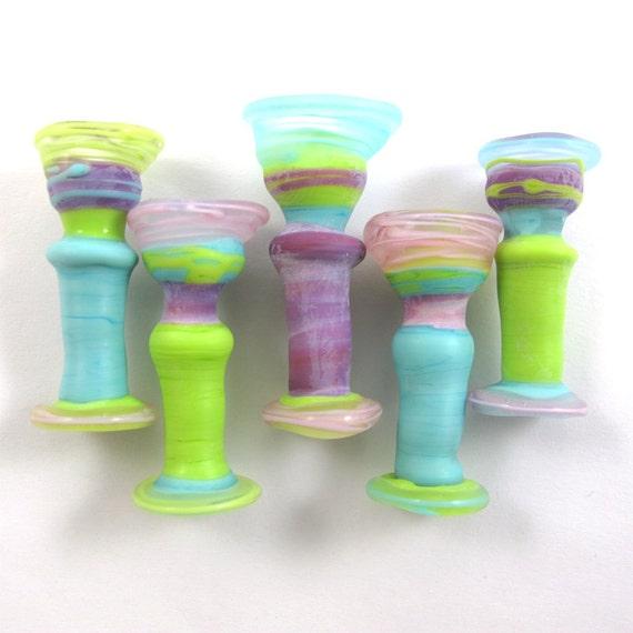 Lampwork beads. Handmade lampwork bead  glass, Lampwork beads, Lampwork beads set, Chalice Beads (5) SRA