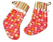 His and Hers Christmas Stockings, Whimsical Christmas Stocking