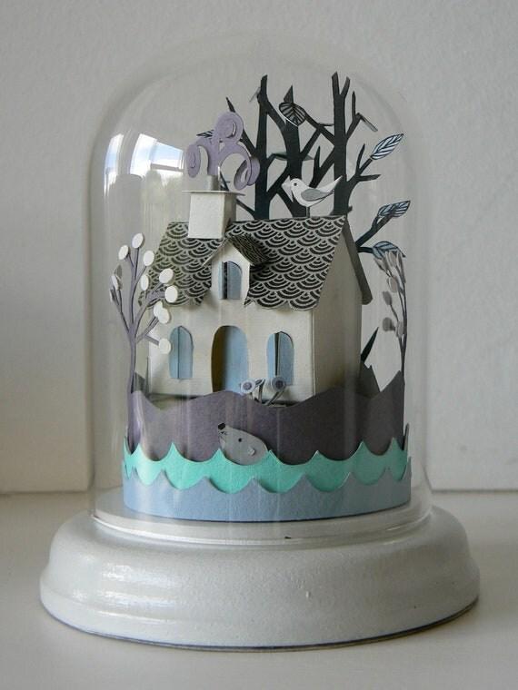 Island Cottage Glass Dome