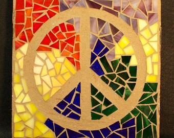 Mosaic Peace Sign