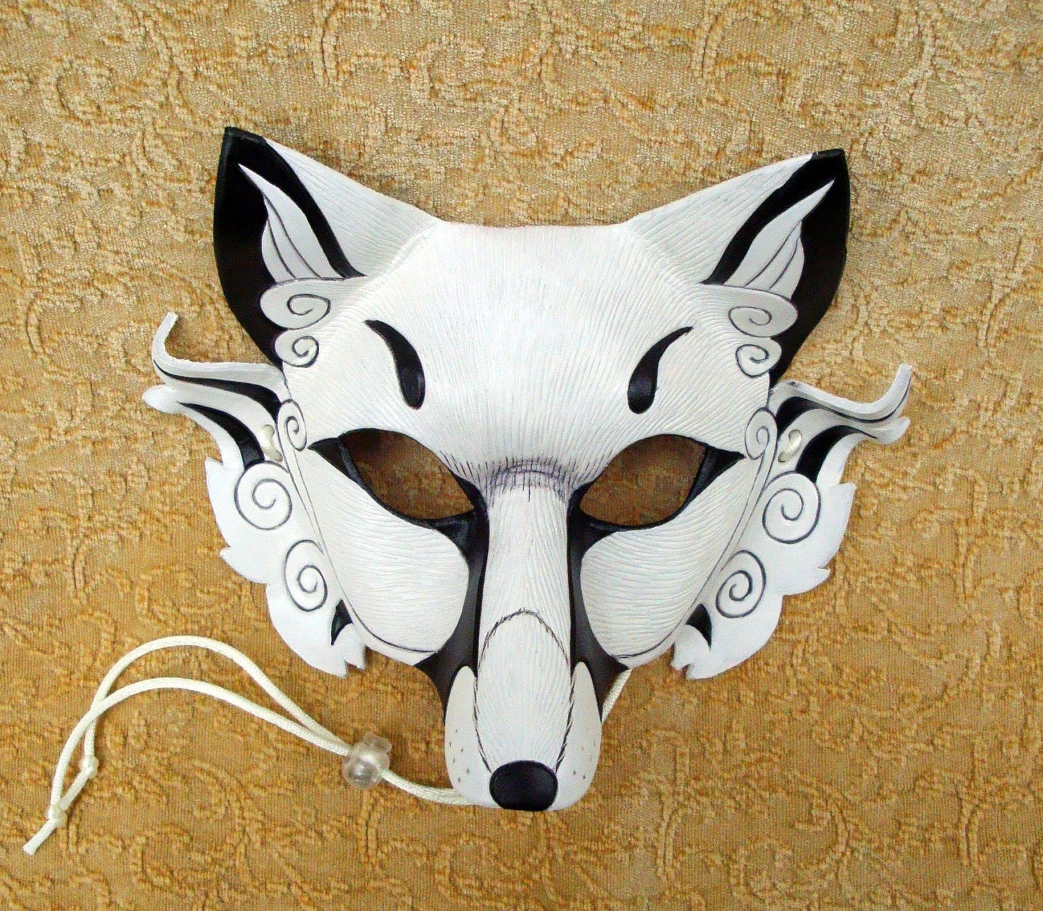 Inari Fox Leather Mask Original Hand Made Leather Japanese