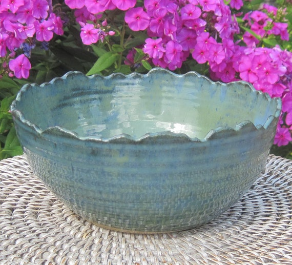 Serving Bowl Rocky Mountain Rim - Visit shop for more Handmade Pottery